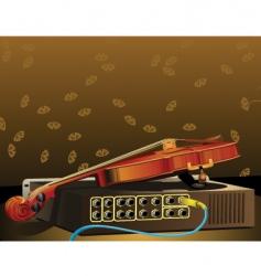 violin and amplifier vector image