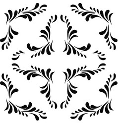 black abstract seamless pattern vector image