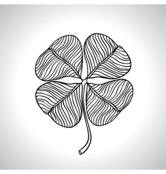 Black macro clover leaf natural isolated vector image vector image
