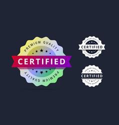 Certified stamp vector image vector image