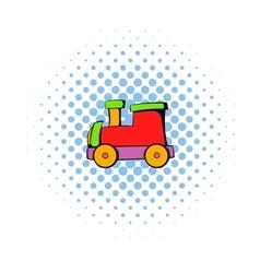 Children locomotive icon comics style vector image vector image