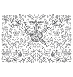 hand drawn vintage floral retro vector image