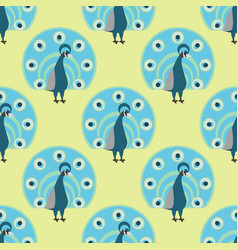 seamless pattern peacock background vector image vector image