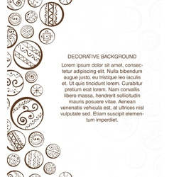 Abstract design template with decorative circles vector image vector image