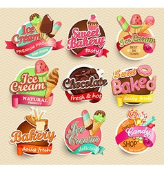 Food label and sticker vector
