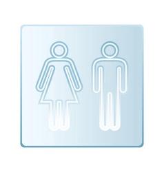 Glass toilet symbols vector image
