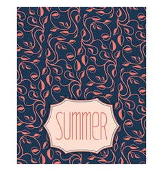 Summer floral pattern with frame vector image vector image