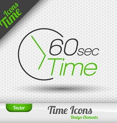 Time Icon 60 Seconds Symbol Design Elements vector image vector image