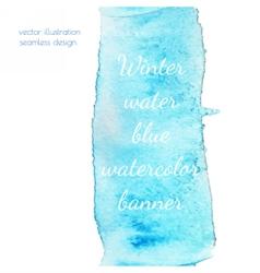 Winter water watercolor vector image