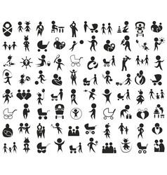 children family icon on white vector image