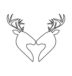 Couple of deer icon animal concept vector image vector image