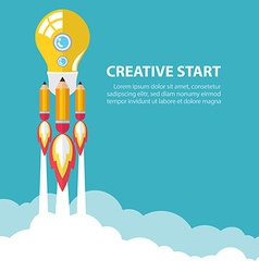 Creative start up vector image