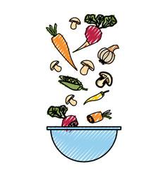 vegetable delicious salad vector image