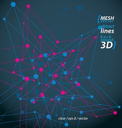 3d mesh polygonal abstract object isolated on dark vector