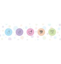 5 chopsticks icons vector