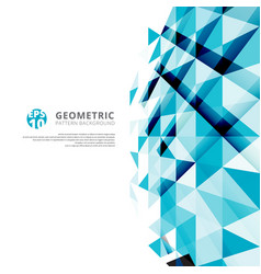 Abstract blue geometric triangles pattern vector