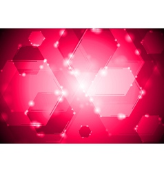 Abstract shiny tech background vector image