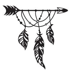 Arrow dreamcatcher boho vector