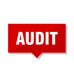 Audit red tag vector