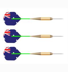 australian darts flag set vector image