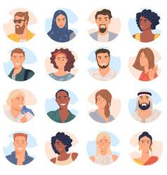 Avatar of diverse business team vector