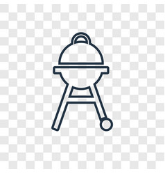 Barbacue concept linear icon isolated on vector