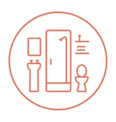 Bathroom line icon vector image