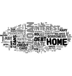 Be careful with loans text word cloud concept vector