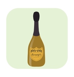 Bottle of champagne cartoon icon vector