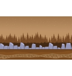 Brown backgrounds rock and spruce landscape vector