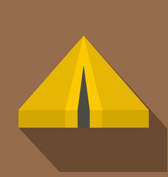 camping tent icon flat style vector image