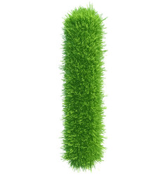 Capital letter i from grass on white vector