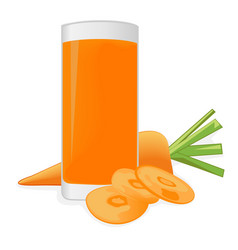 carrot juice and a carrot vector image