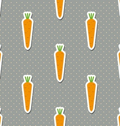 carrot pattern Seamless texture with ripe carrots vector image