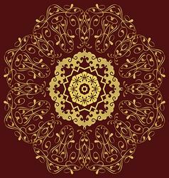 Circular pattern in mandala style Set vector