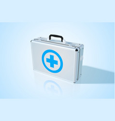 closed metal medical bag vector image