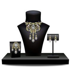 Collection of jewelry vector