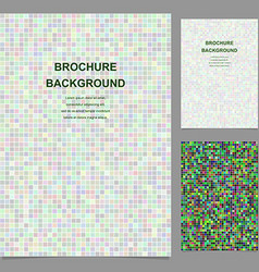 Colored abstract square mosaic brochure design vector