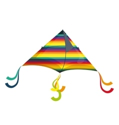 Colorful kite flying with rainbow colors vector