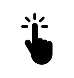 cursor click icon design template vector image