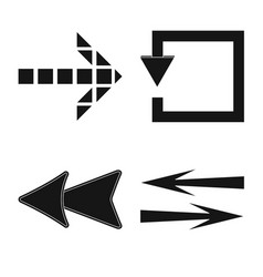 element and arrow sign vector image