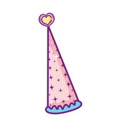 fairy hat cartoon vector image