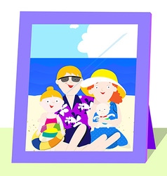 Family photo in summer vector