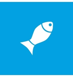Fish icon white vector image