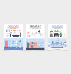 flat home interior posters vector image
