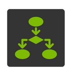 Flowchart Icon from Commerce Buttons OverColor Set vector image