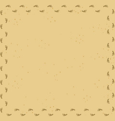 foot prints track frame on sand desert background vector image