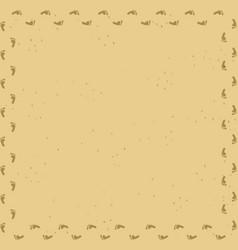 Foot prints track frame on sand desert background vector