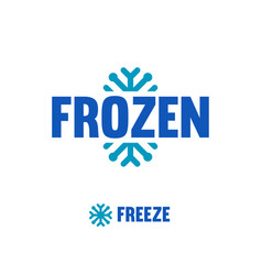 Frozen freeze logo abstract snowflake vector