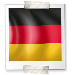 Germany flag on paper vector